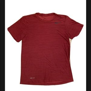 Nike Dry Mens Training Crew Neck T-Shirt Red Small